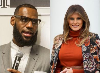 b2efe5bc23b1 Melania backs NBA star LeBron James hours after after Trump tweets ...