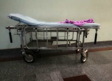 File photo of a hospital trolley