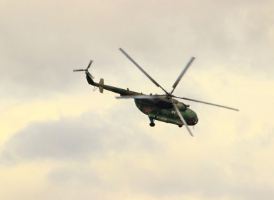 File photo - A military MI-8 helicopter