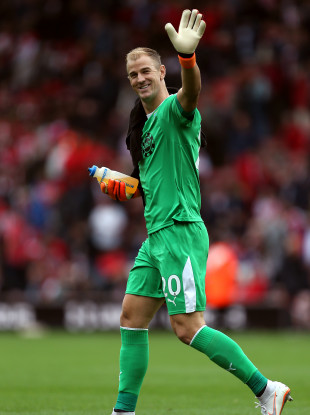 Burnley goalkeeper Joe Hart after full-time.