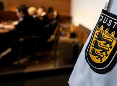Photo taken during the sentencing