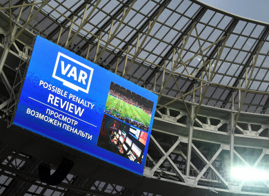 Var in use at the Fifa 2018 World Cup final.