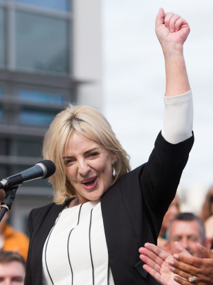 Ní Riada at the launch of her campaign today.
