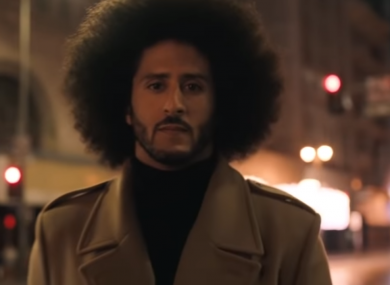 Colin Kaepernick during the commercial.
