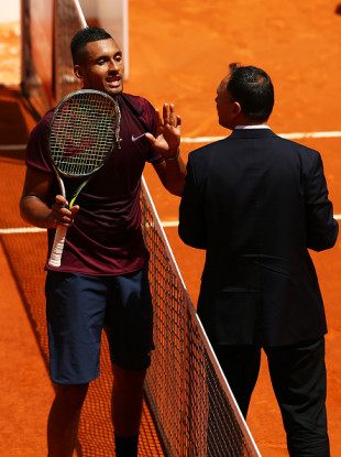 The pair have history - clashing at the French Open earlier this year.