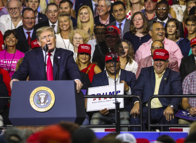 President Donald Trump gives a speech in Florida, July 2018.