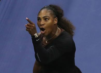 US Open finalist Serena Williams.