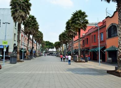 Garibaldi Plaza in Mexico City.