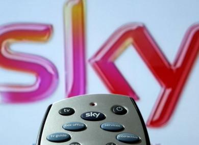 File photo of a Sky HD TV remote control.