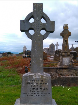 Thomas O'Dea's grave in Rosegreen Cemetery, Co. Tipperary