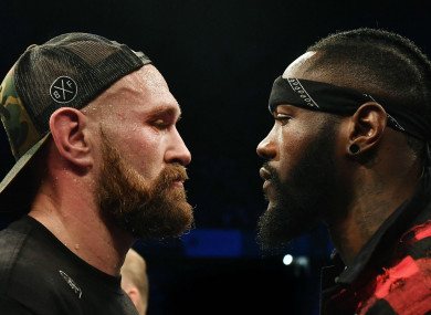 Deontay Wilder and Tyson Fury square up in Belfast
