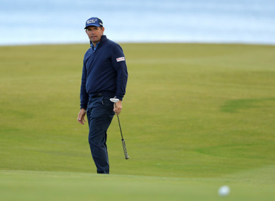 Harrington in action at Kingsbarns today.
