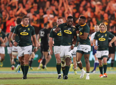 The Boks suffered an agonising late defeat to the All Blacks on Saturday.
