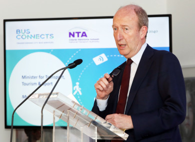Shane Ross praised BusConnects at its initial press conference.