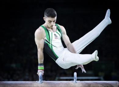 Disappointment: Irish gymnast Rhys McClenaghan.