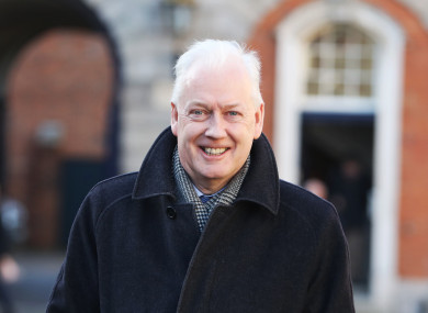 John Barrett on his way into Dublin Castle during Disclosures Tribunal hearings.