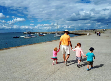 The O'Kane Ball family enjoying a stroll on the pier, just one of the contributions to People on the Pier.