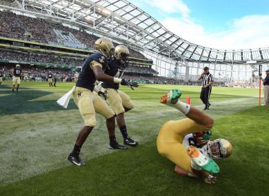 Navy and Notre Dame met in the Aviva Stadium in 2012.
