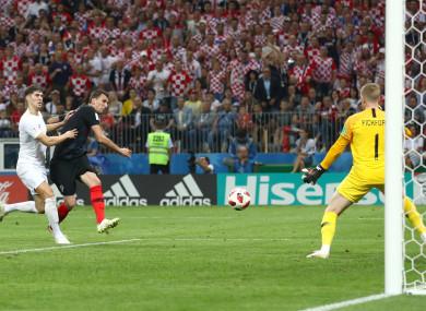 Mario Mandzukic: extra-time winner sent Croatia through to the World Cup final.
