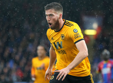 In form: Wolves defender Matt Doherty.