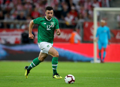 Enda Stevens has three Ireland caps and made his competitive debut against Wales last month.