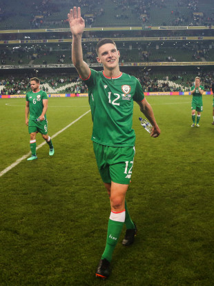 Rice has won three senior caps for Ireland.