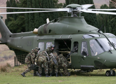 Irish soldiers during a training mission (File photo)
