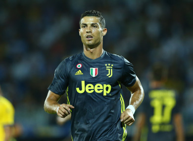 The footballer now plays for Juventus in Italy