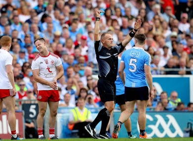 Lane in action in the All-Ireland final.