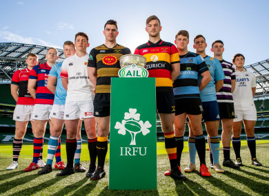 Players at the AIL launch at the Aviva Stadium last week.