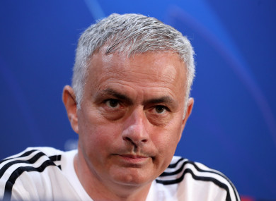 Mourinho speaking at this afternoon's press conference.