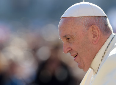 Pope Francis attends the weekly general audience in Saint Peter square.