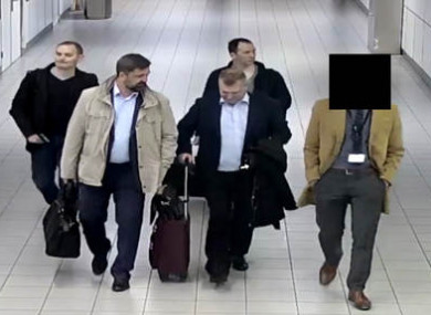 The four men flew into Schiphol Airport.