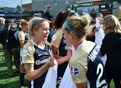 O'Sullivan celebrates winning the National Women's Soccer League in September.