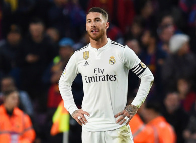 Real Madrid captain Sergio Ramos during Sunday's Clasico loss to Barcelona