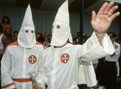 A KKK rally in the US state of Maryland in 1992. (File photo)