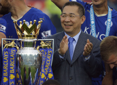 Leicester City owner Vichai Srivaddhanaprabha.