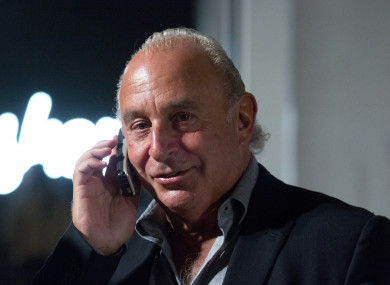 Philip Green during the Topshop London Fashion Week last year.
