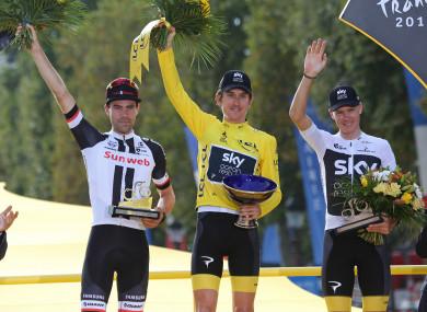 2018 Tour de France winner Geraint Thomas.