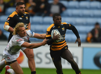Christian Wade competing against Gloucester.