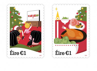 New Christmas postage stamps from An Post.