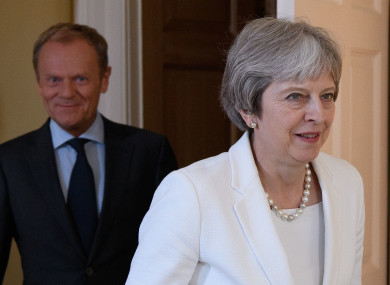 File image: Prime Minister Theresa May (right) with President of the European Council Donald Tusk.