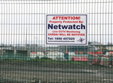 Builders had stopped working on a new development of social houses in Clondalkin, Dublin, following reports of intimidation and anti-social behaviour.