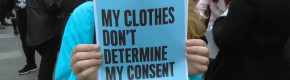 Rallies were held across Ireland after a girl's underwear was used as evidence in a rape trial