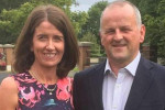 Sean Cox pictured alongside his wife Martina