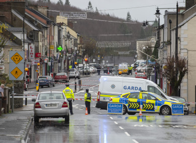Scene of the fatal accident in Castleblayney, Co Monaghan.