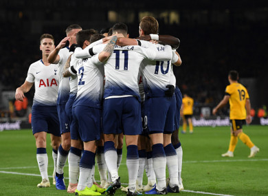 Spurs were in command before a grandstand finish at Molineux.
