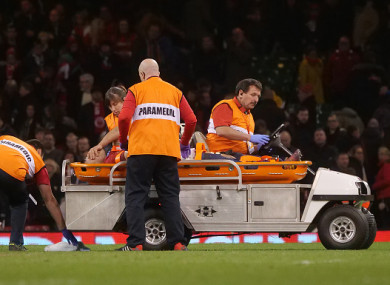 Jenkins suffered the injury in the win over South Africa on Saturday afternoon.