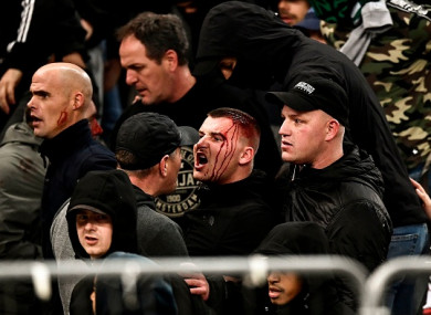 Ajax fans clashed with riot police.