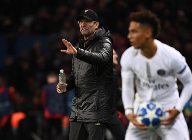 Klopp and Liverpool were left frustrated in Paris.